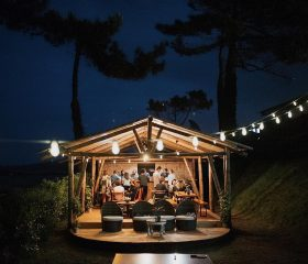 HOLASPAIN_Surf Camp Glamping_bar_night